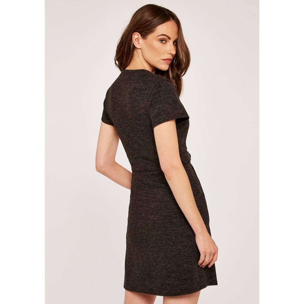 Apricot Strickkleid »Heavy Knit Crew Neck Epaulette Dress«, mit Taschen