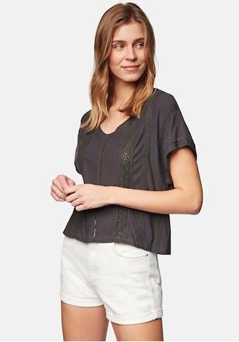 Mavi T-Shirt »LACE DETAIL TOP«, V-Shirt in stylischer Cropped Form kaufen