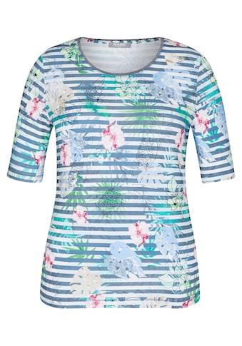Rabe T-Shirt, mit geblümtem und geringeltem Allover-Muster kaufen