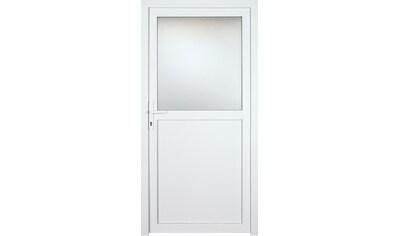 KM Zaun Nebeneingangstür »K602P«, BxH: 98x198 cm, weiß, links kaufen