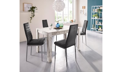 Essgruppe, (Set, 5 tlg.), mit Esstisch »Lynn«, Breite 120 cm und 4 x Stuhl »Kate« kaufen