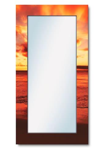 Artland Wandspiegel »Schöner Sonnenuntergang Strand«, gerahmter Ganzkörperspiegel mit... kaufen