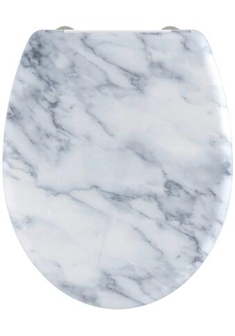 welltime WC-Sitz »Marble«, hochwertiger abnehmbarer Premium-Toilettendeckel mit... kaufen