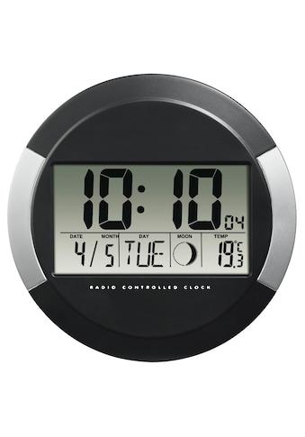 Hama Funkwanduhr Funkuhr mit Thermometer, Kalender, Mondphasen kaufen