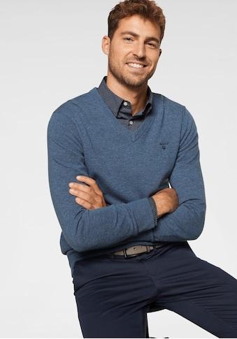 Gant V-Ausschnitt-Pullover, aus reiner Lammwolle kaufen