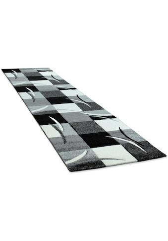 Paco Home Läufer »Diamond 665«, rechteckig, 17 mm Höhe, Teppich-Läufer, Kurzflor, gewebt, 3D-Design, Karo Muster kaufen