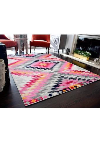 CosmoLiving by Cosmopolitan Teppich »Bodrum Tribal«, rechteckig, 8 mm Höhe, Kelim Optik, Wohnzimmer kaufen