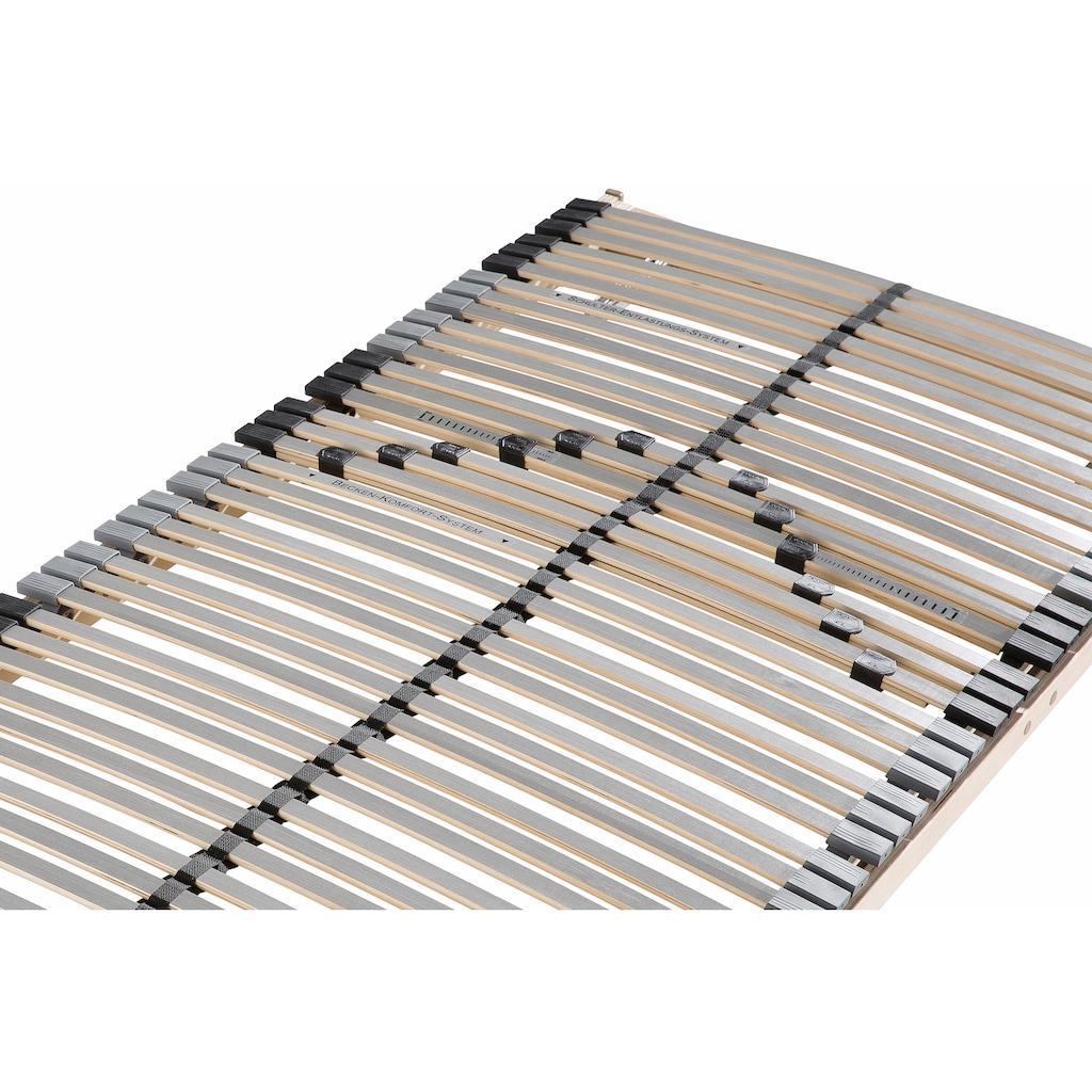 BeCo EXCLUSIV Lattenrost »Premium«, 42 Leisten, Kopfteil manuell verstellbar, 42 besonders flexible Federleisten