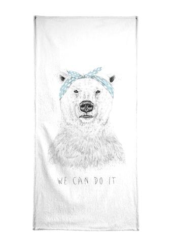 """Handtuch """"We can do it"""", Juniqe kaufen"""