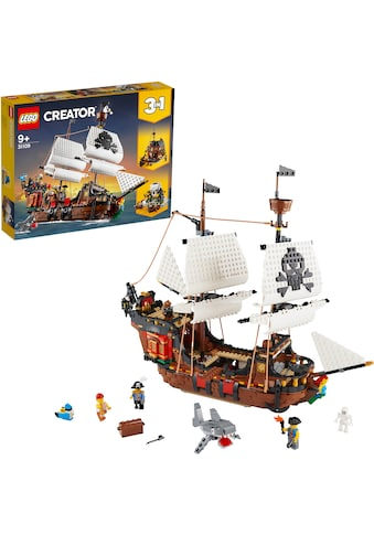 LEGO® Konstruktionsspielsteine »Piratenschiff (31109), LEGO® Creator 3in1«, (1264... kaufen