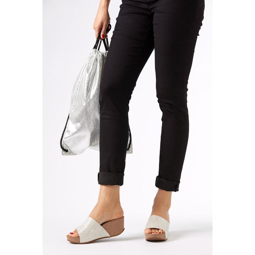 LASCANA Pantolette, mit Keilabsatz und Korkfußbett