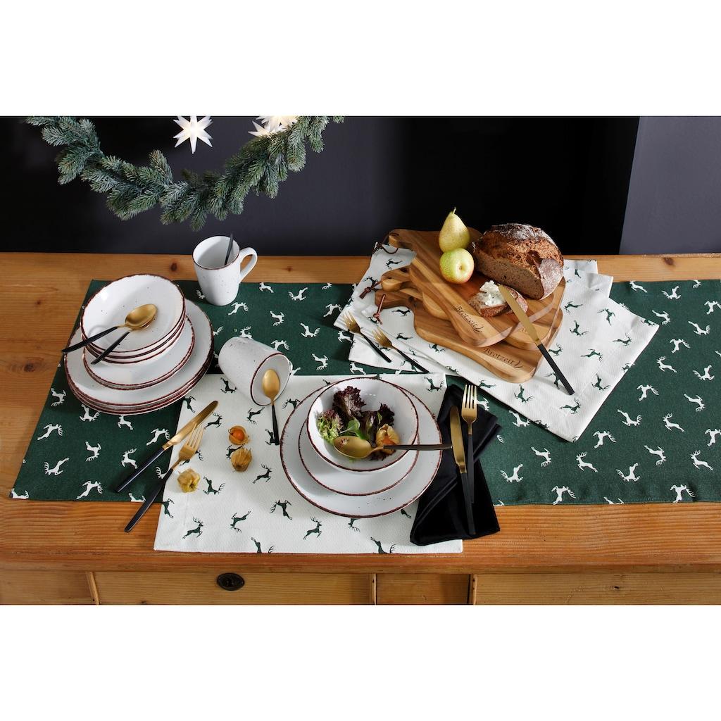 HOSSNER - HOMECOLLECTION Tischläufer »Sprunghirsch«
