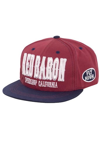 KingKerosin Flat Cap »Red Baron«, mit cooler 3D-Stickerei und Print kaufen