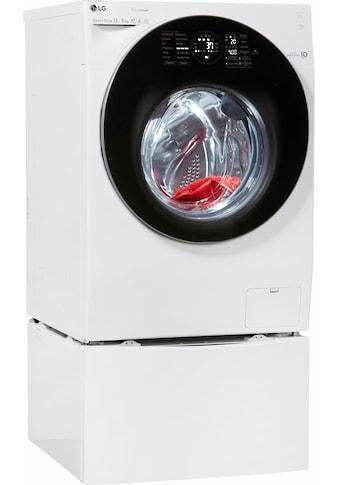 LG TwinWash Waschtrockner F6WD128TWIN, 12 kg / 8 kg, 1600 U/Min kaufen