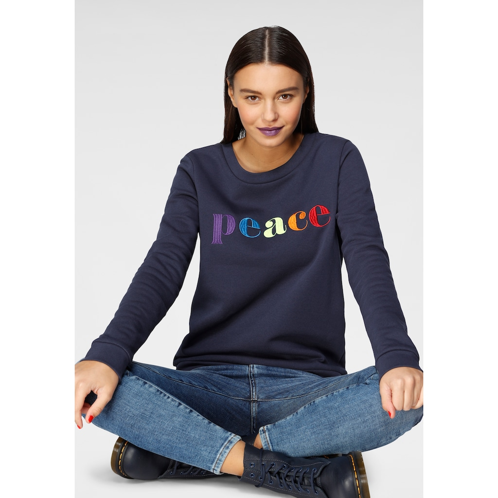 AJC Sweatshirt, mit Mulitcolour-Statement-Stickerei