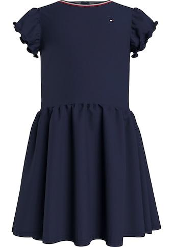 TOMMY HILFIGER Jerseykleid »LG PIQUE DRESS«, mit kleiner Rüsche am Ärmel kaufen
