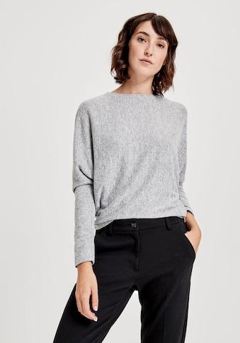 OPUS Langarmshirt »Sutton«, hinten mit Zierknopfleiste kaufen