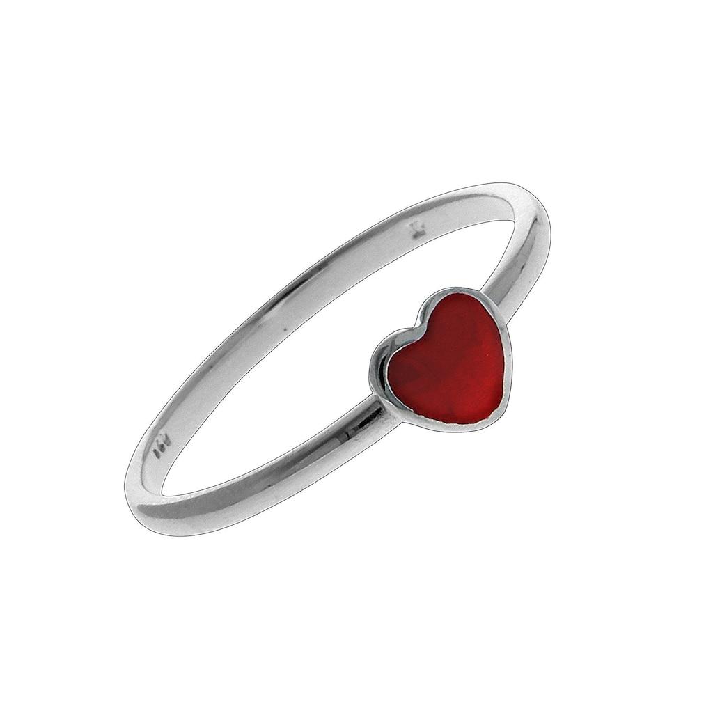 Vivance Ring »925/- Sterling Silber rhodiniert Herz«
