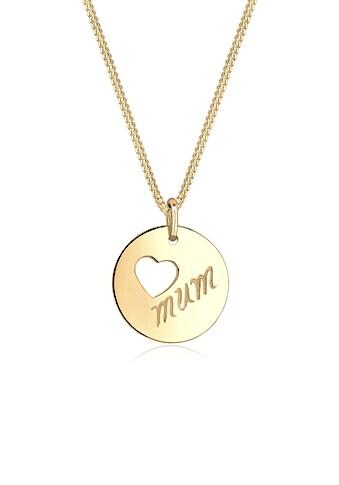 Elli Collierkettchen »Wordings Mum-Schriftzug Herz 925 Silber« kaufen