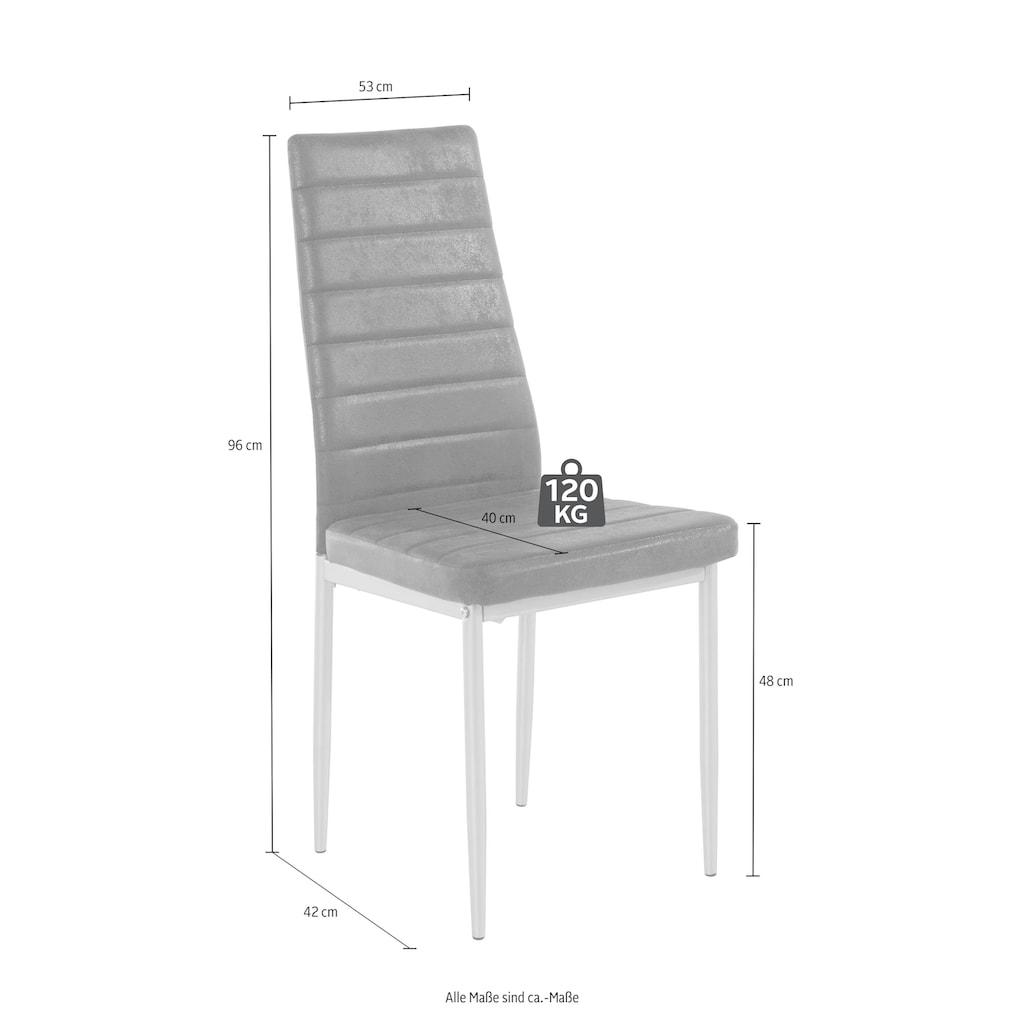 Essgruppe, (Set, 5 tlg.), mit Esstisch »Lynn«, Breite 120 cm und 4 x Stuhl »Kate«