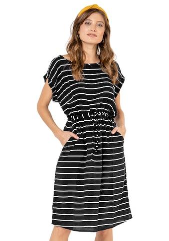 Eight2Nine A-Linien-Kleid, mit Tunnelzug gestreift kaufen