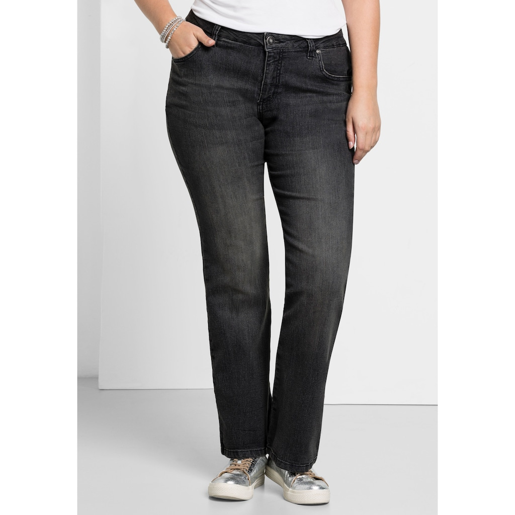 Sheego Bootcut-Jeans, MAILA in Bootcut-Form