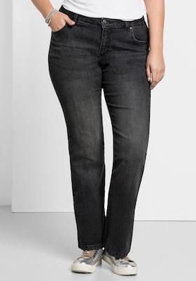 Bootcut-Jeans in Dunkelgrau