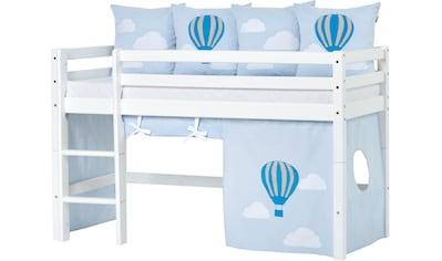 Hoppekids Hochbett »Ballon«, inkl. Vorhang-Set, Matratze und Rollrost kaufen