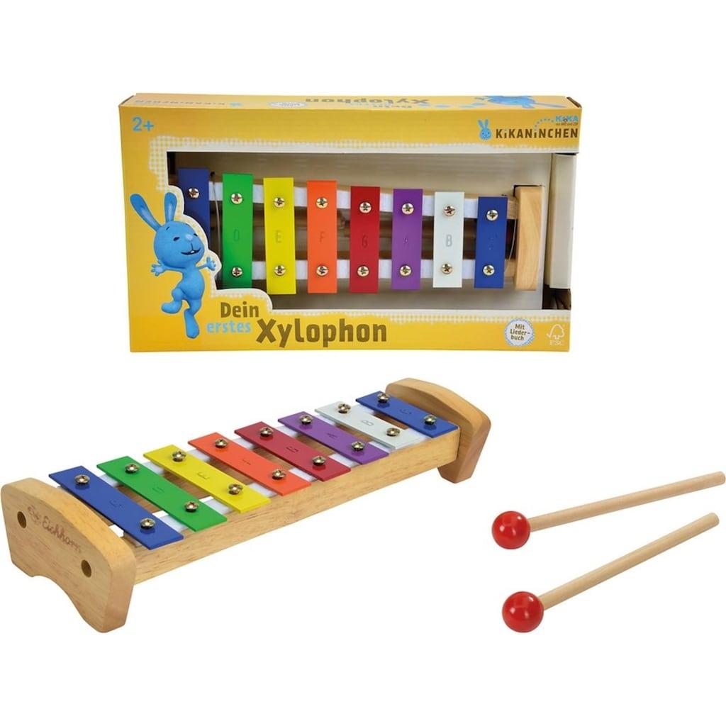 SIMBA Spielzeug-Musikinstrument »Xylophon«, KiKANiNCHEN Holz-Xylophon, FSC®-Holz aus gewissenhaft bewirtschafteten Wäldern