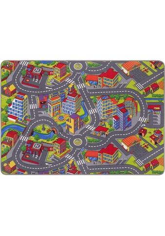 Andiamo Kinderteppich »Straße«, rechteckig, 5 mm Höhe, Straßen-Spielteppich, Straßenbreite: 8,5 cm, Kundenliebling mit 4,5 Sterne-Bewertung kaufen