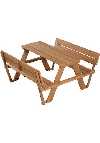 roba® Kindersitzgruppe »Picknick for 4 Outdoor Deluxe, Teakholz«, (Set, 1 tlg.), mit Lehne kaufen