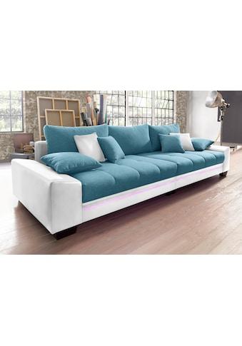 Nova Via Big-Sofa, wahlweise mit Kaltschaum (140kg Belastung/Sitz) und Bluetooth-Soundsystem, sowie RGB-LED-Beleuchtung kaufen