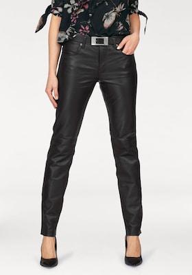 Schwarze Lederhose für Damen