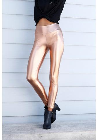 LASCANA Leggings, mit glänzender Beschichtung kaufen