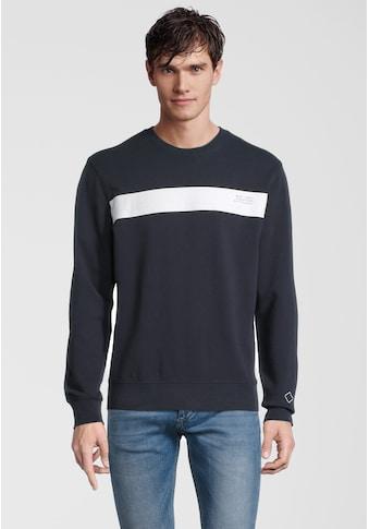 Replay Sweater »mit Kontrast-Print«, und Rundhals kaufen