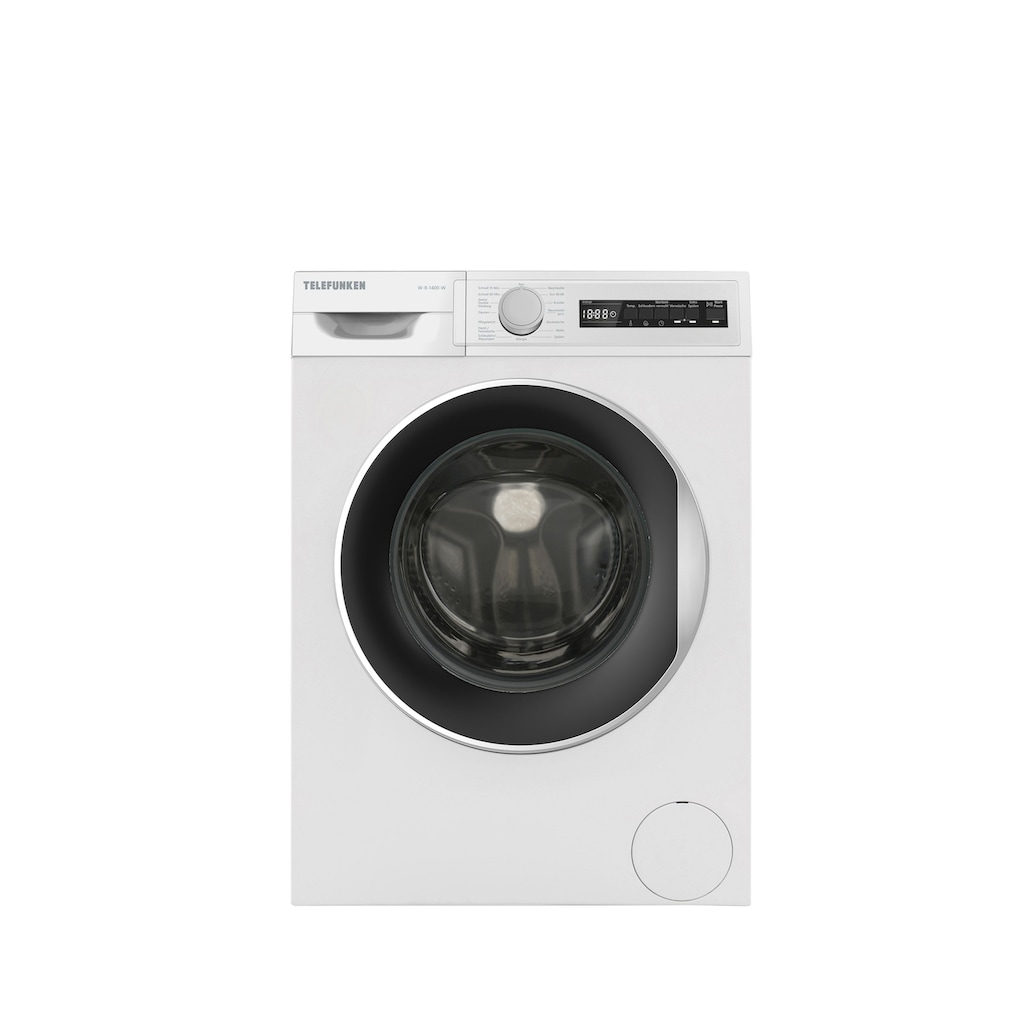 Telefunken Waschmaschine »W-8-1400-W«, W-8-1400-W, (8 kg / weiss)