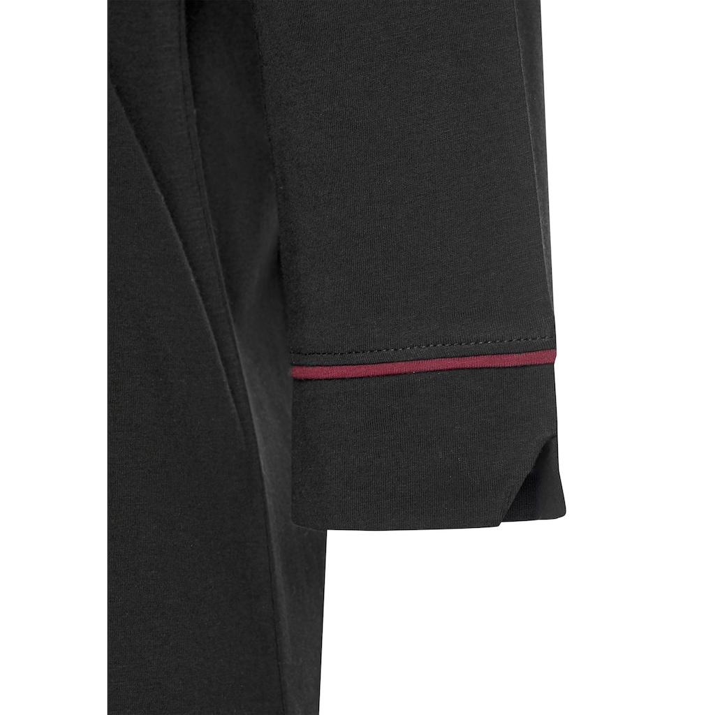 s.Oliver Bodywear Nachthemd, in klassischem Schnitt mit 3/4-Ärmeln