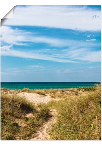 Artland Wandbild »In den Dünen Dänemarks I«, Strand, (1 St.), in vielen Größen &... kaufen