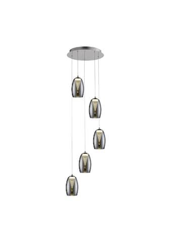 Brilliant Leuchten Metropolis LED Pendelleuchte 5flg chrom/rauchglas easyDim kaufen