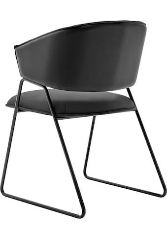 GWINNER Esszimmerstuhl »Style«, Bezug Leder schwarz kaufen