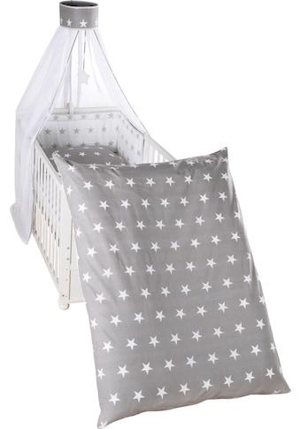 roba® Himmelbettgarnitur »Little Stars, wendbar«, 4-tlg., mit Bettwäsche, Nestchen und Himmel kaufen