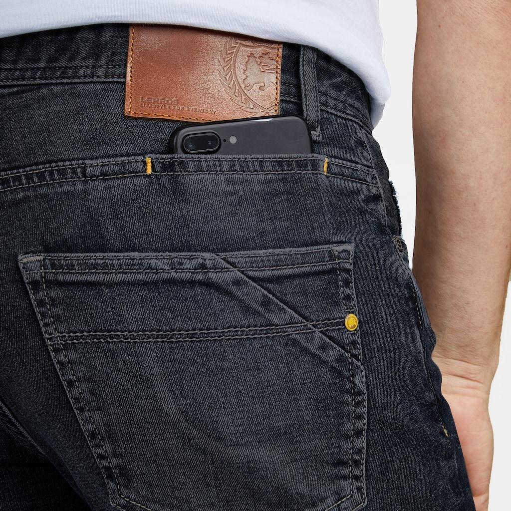LERROS Stretch-Jeans »JAN«, in Used-Optik, Highlight: Handy-Stecktasche