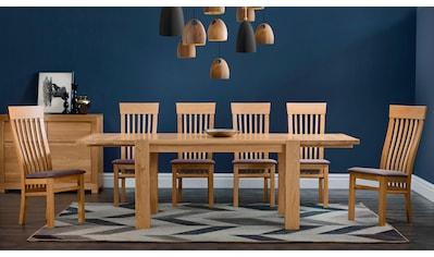 Premium collection by Home affaire Essgruppe »Amore«, (Set, 5 tlg.), bestehend aus dem Tisch »Dominik« und den Stühlen kaufen