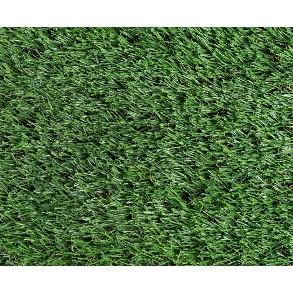 KONIFERA Kunstrasen »Trento deluxe«, rechteckig, 30 mm Höhe, UV-beständig, witterungsbeständig und wetterfest