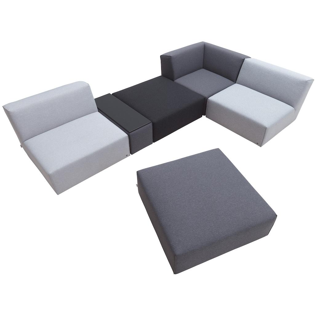 TOM TAILOR Wohnlandschaft »ELEMENTS«, mit Tischelement, in Grey shadows, bestehend aus 6 Sofaelementen