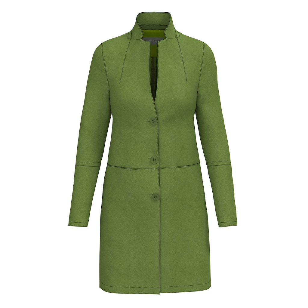 bianca Langjacke »THERES«, in trendiger Veloursoptik und Modefarbe ivy