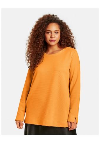 Samoon Rundhalsshirt »Langarmshirt aus Struktur - Jersey« kaufen