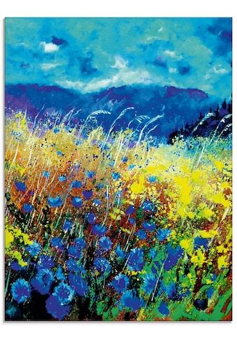 Artland Glasbild »Blaue wilde Blumen«, Blumenwiese, (1 St.) kaufen