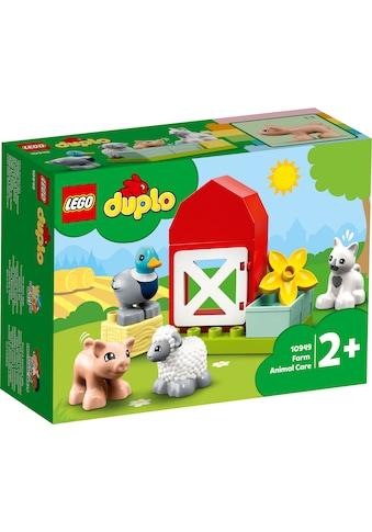 LEGO® Konstruktionsspielsteine »Tierpflege auf dem Bauernhof (10949), LEGO® DUPLO®... kaufen