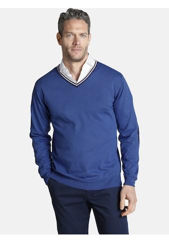 Charles Colby V-Ausschnitt-Pullover »JOYLIN«, im College Design kaufen